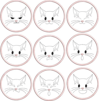Cat Feelings Coaster Set 4x4 ITH