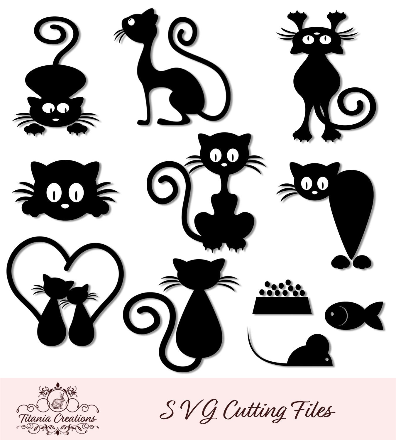 Cat Set Of 11 Svg Vinyl