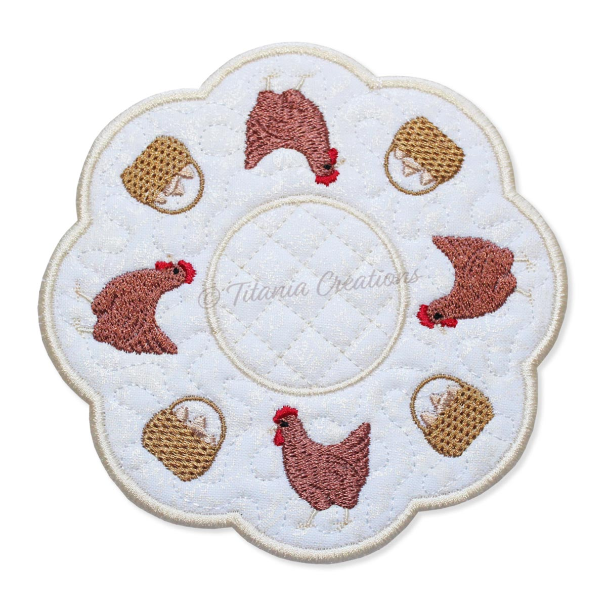 ITH Chicken Candle Mat 5x5 6x6 7x7 8x8