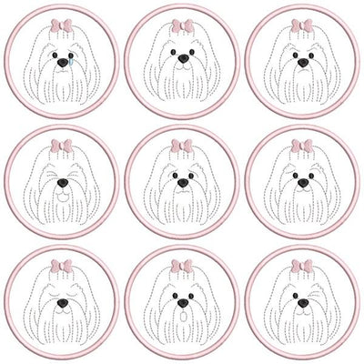 Dog Feelings Coaster Set 4x4 ITH