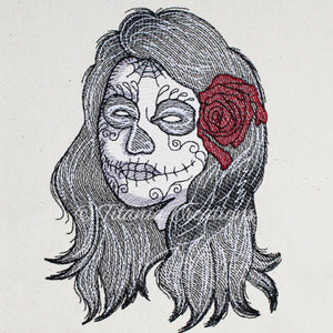 Day of The Dead Lady 5x7