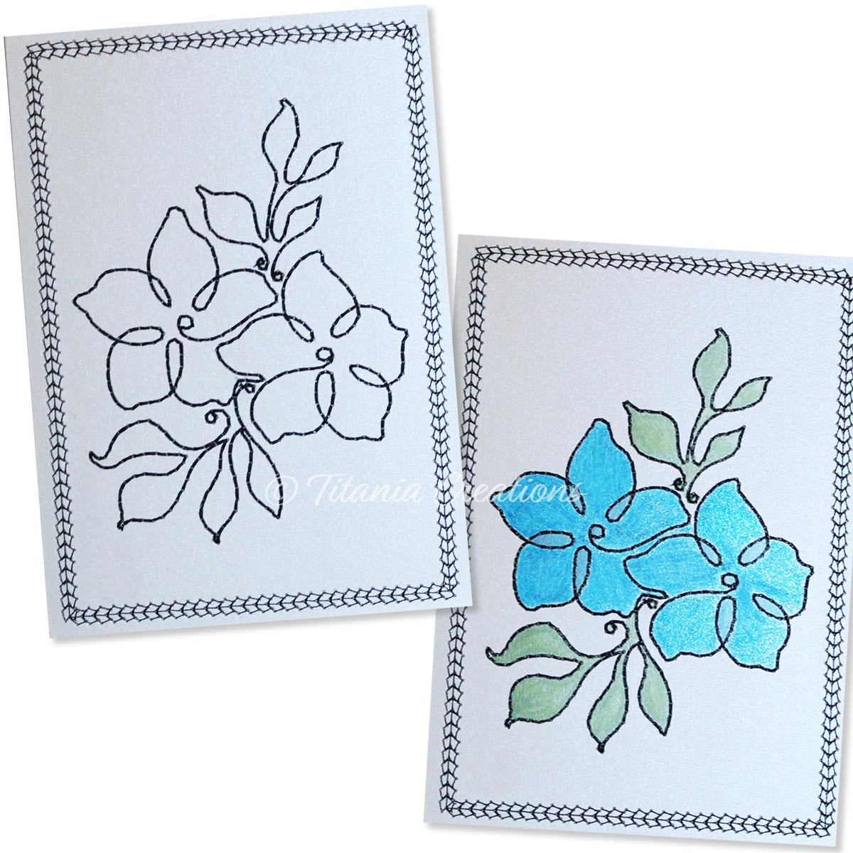 Simply Floral 10 Card Stock Design 5x7