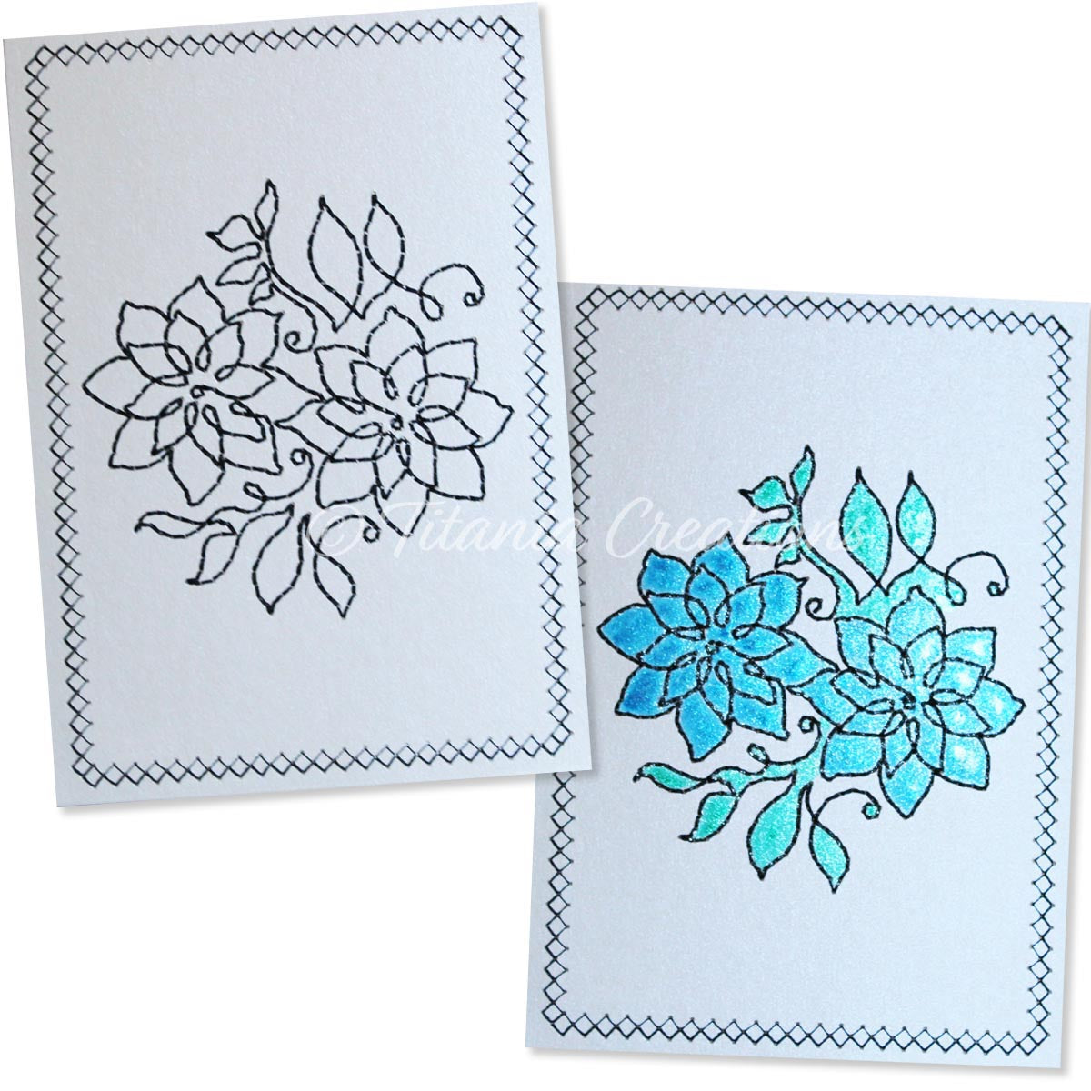 Simply Floral 09 Card Stock Design 5x7