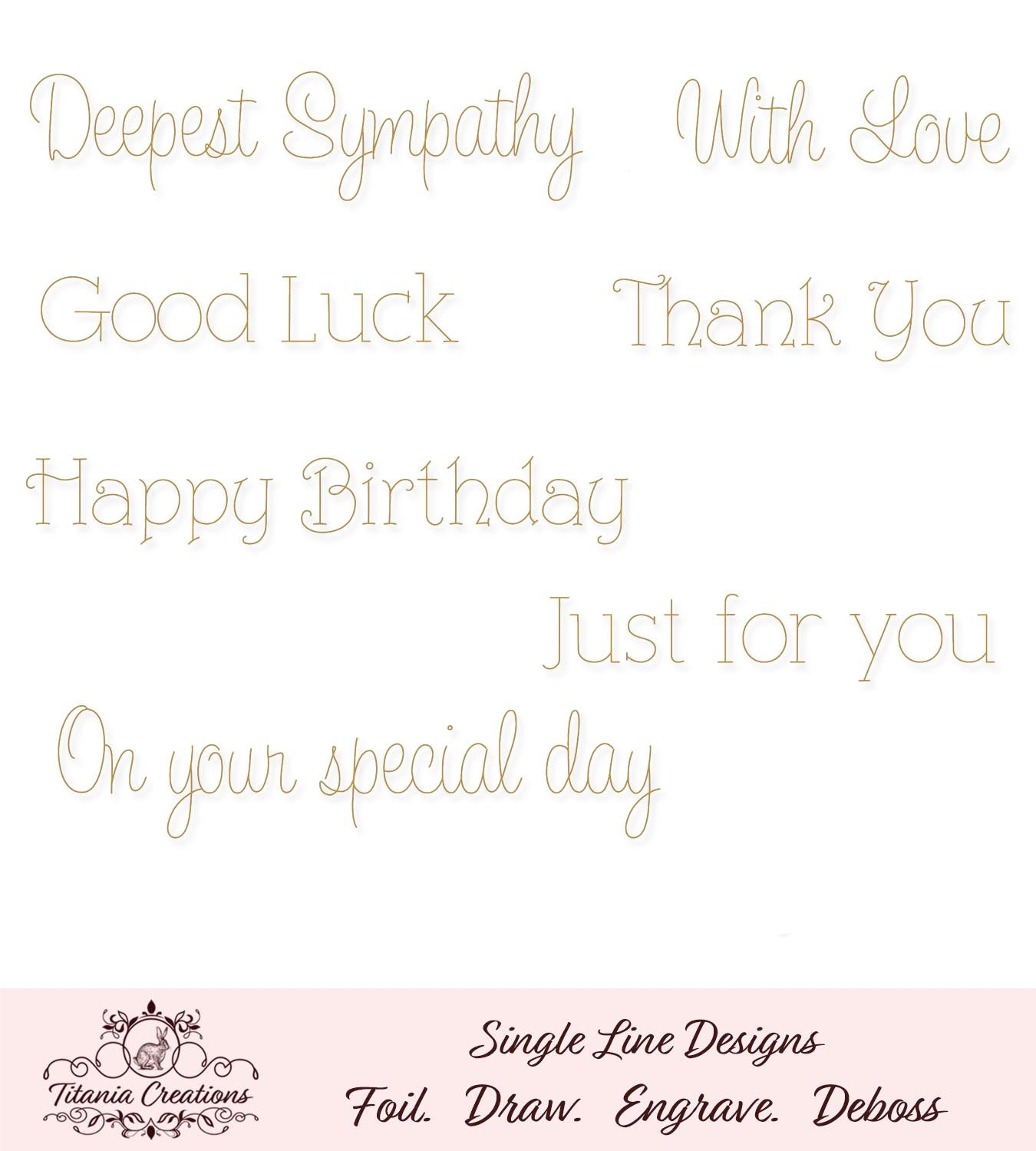 Line free for single engraving fonts All Single