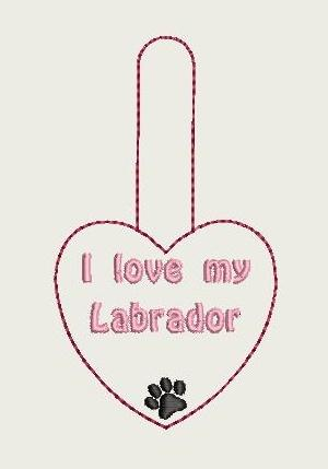 I Love My Labrador Key Fob 4X4 Db Fobs