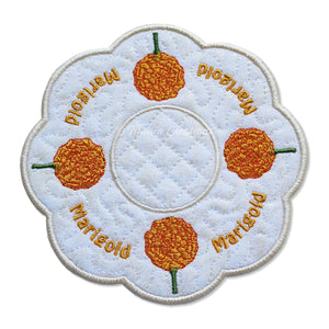 ITH Marigold Flower for October Candle Mat 5x5 6x6 7x7 8x8