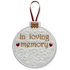 ITH Loving Memory Bauble 4x4