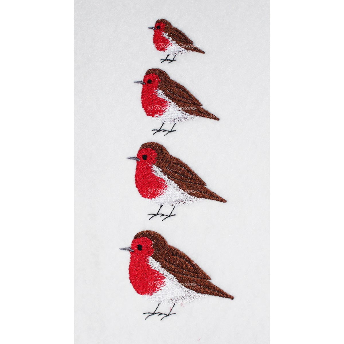 Miniature Robin Red Breast Set of Four