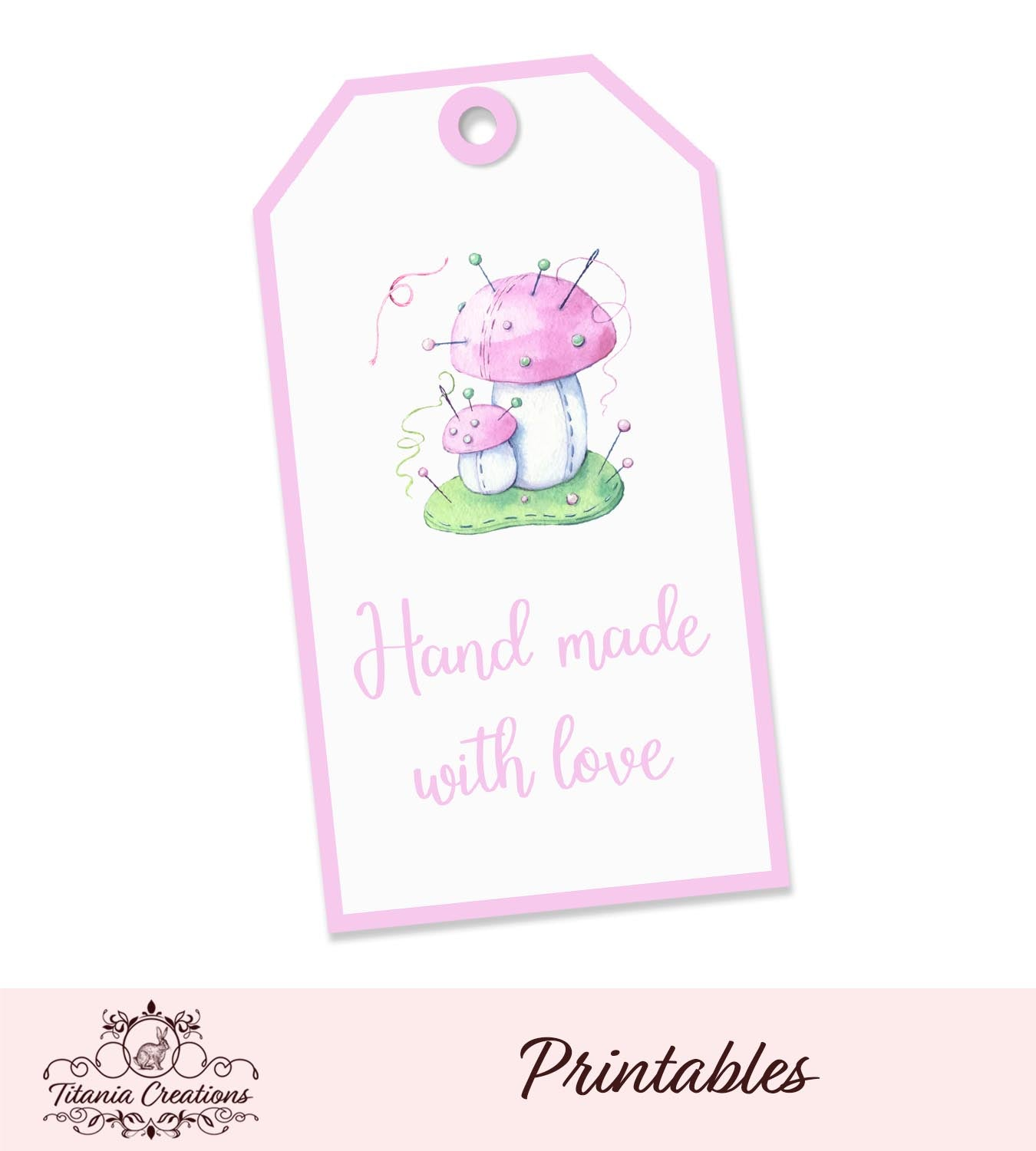 Printable Mushroom Made With Love Tags