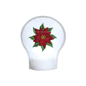 ITH Poinsettia Flower for December Tea Light Cover 4x4