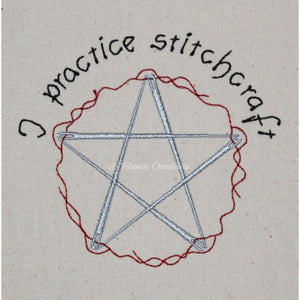 I Practice Stitchcraft Sewing Needle Pentacle 4x4 5x7