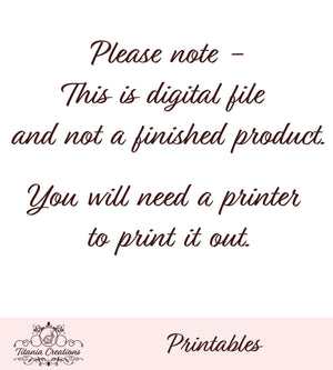 Printable Pink Button Card
