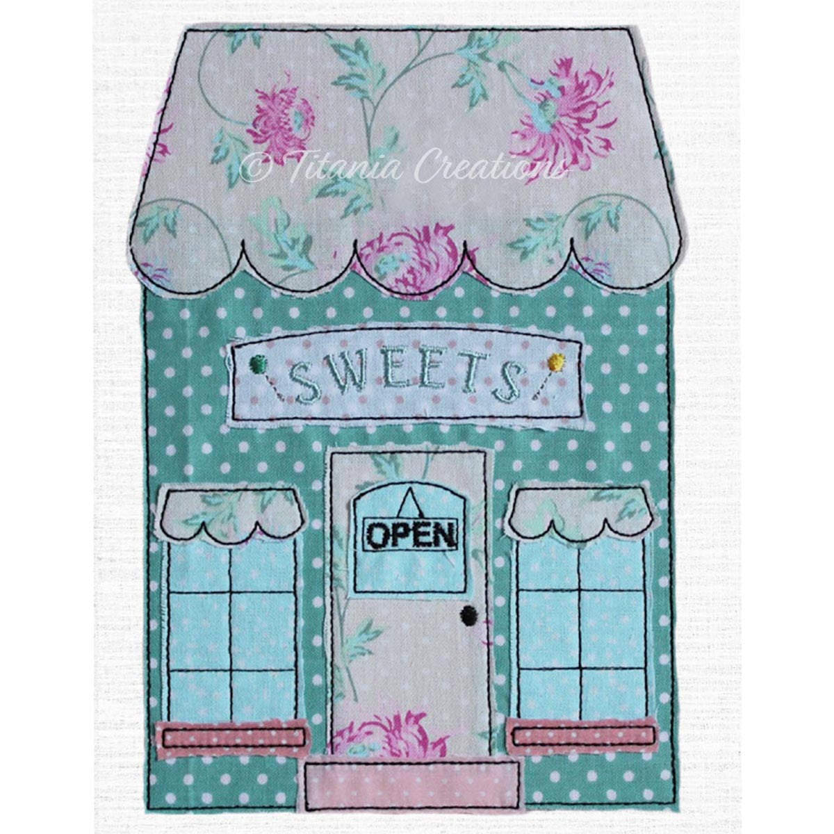Raw Edge Applique Sweet Shop 5x7 6x10 8x12