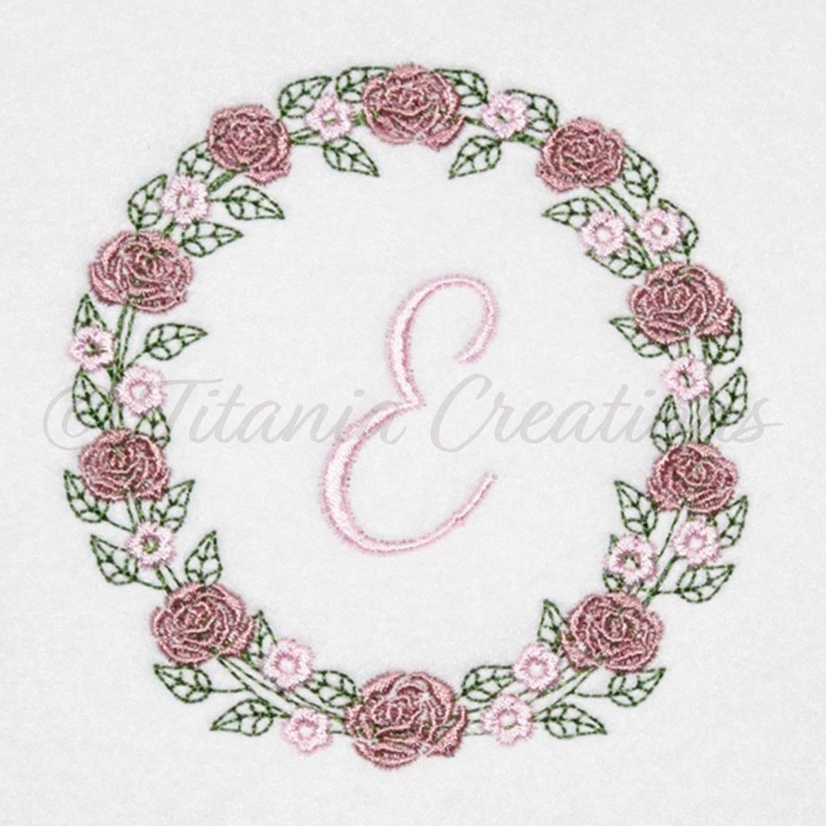Rose Wreath Alphabet 4x4