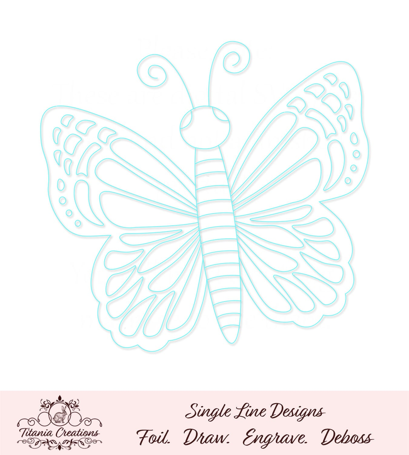 Single Line Butterfly Foil Quill SVG