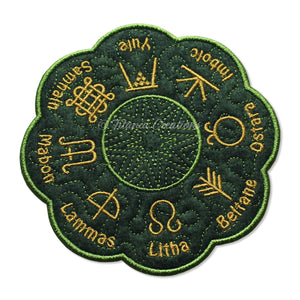ITH Wheel of The Year Candle Mat 5x5 6x6 7x7 8x8