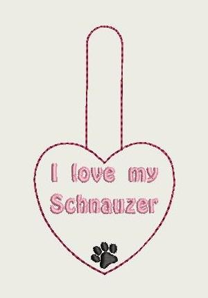 I Love My Schnauzer Key Fob 4X4 Db Fobs