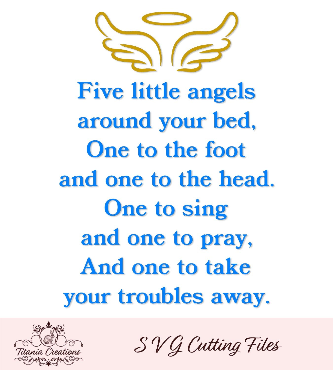 Five Little Angels SVG