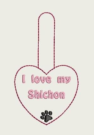 I Love My Shichon Key Fob 4X4 Db Fobs