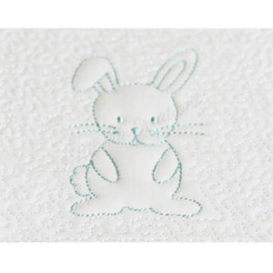 Trapunto Rabbit Quilt Block 6x6