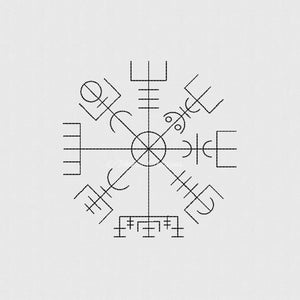 Vegvisir Symbol Set of Four 4x4 5x7