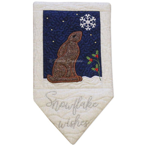 ITH Winter Hare Wall Hanging Project 5x7