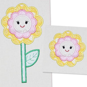 Applique Flower  4x4 5x7