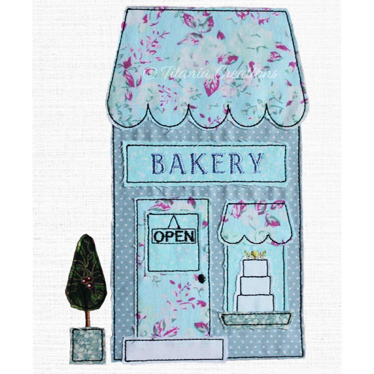 Raw Edge Applique Bakery Shop 5x7 6x10 8x12