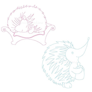 Boy & Girl Baby Hedgehogs  4x4 5x7