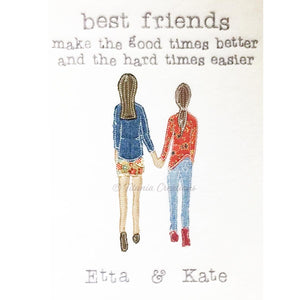 Zen by Adele Raw Edge Applique Best Friends with Quote 8x12