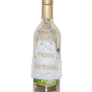 ITH Happy Birthday Bottle Apron 4x4