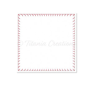 ITH Blanket Stitch Flat Square 6x6