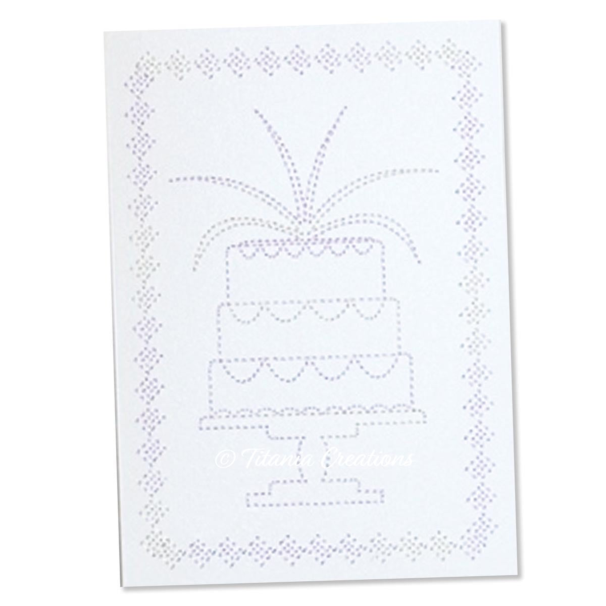 Celebration Cake Card Stock Design 5x7