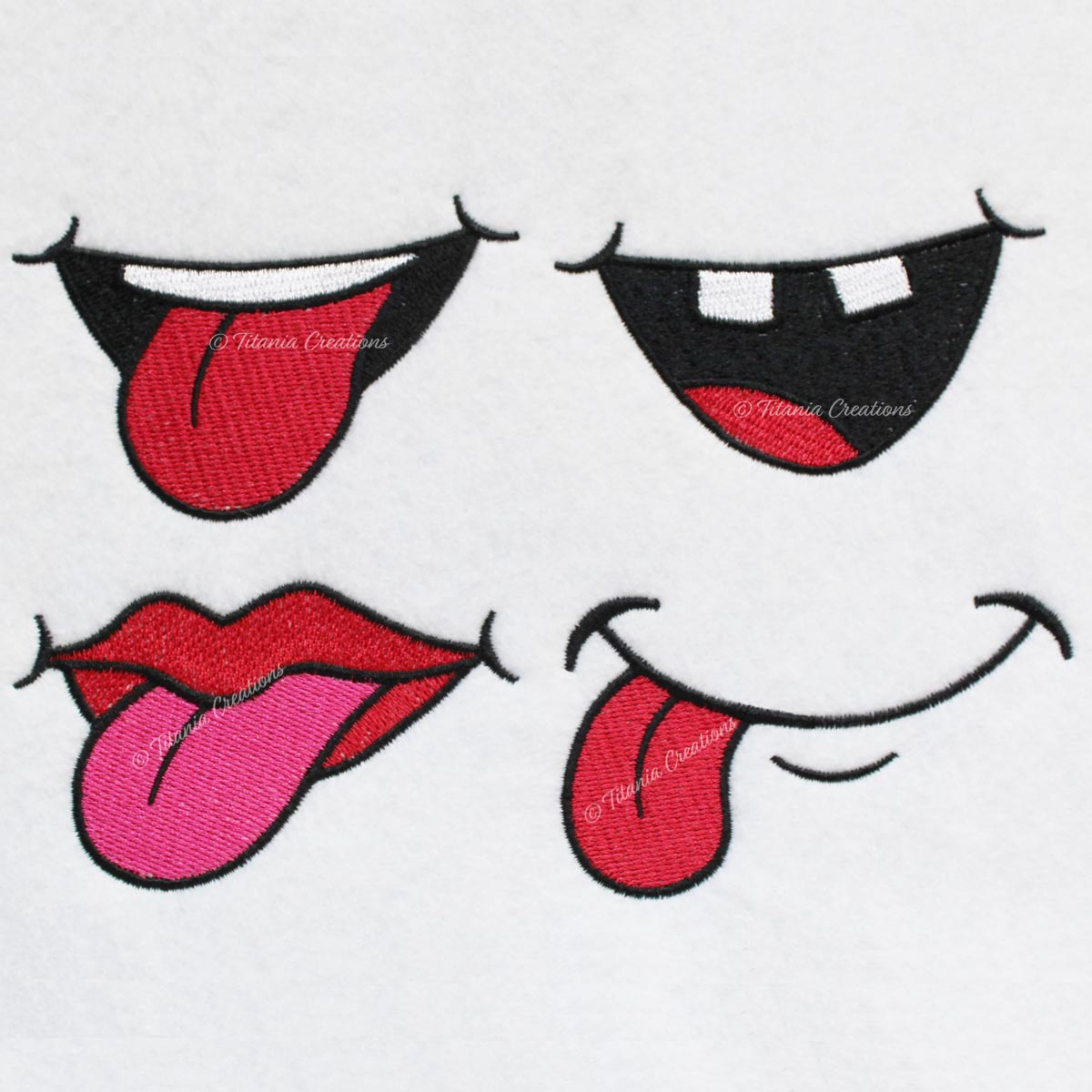 Cartoon Mouths Set of 4