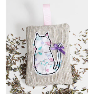 ITH Applique CAT Lavender Sachet 4x4