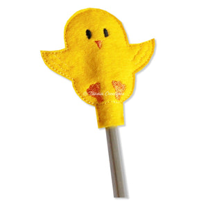 ITH Chick Pencil Topper 4x4