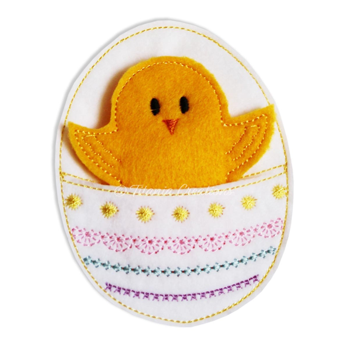 ITH Easter Egg Chick Treat Bag 4x4