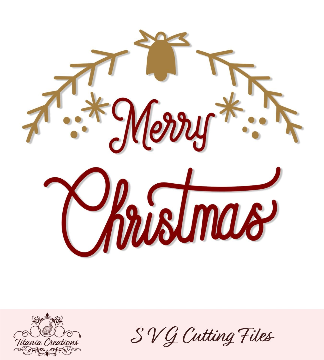 Merry Christmas Bell Svg Vinyl
