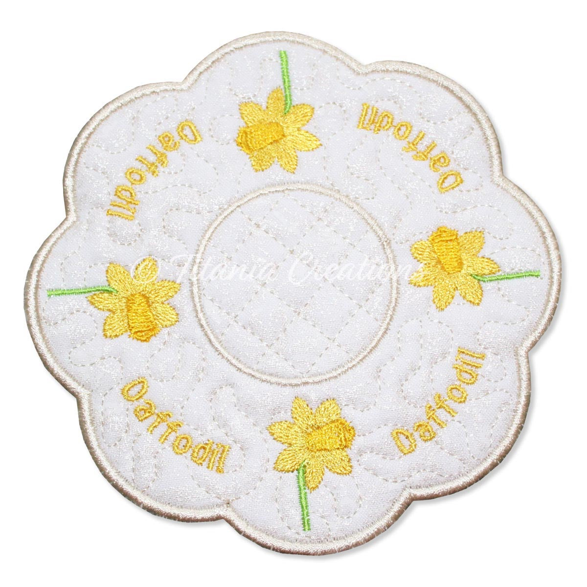 ITH Daffodil March Flower Candle Mat 5x5 6x6 7x7 8x8