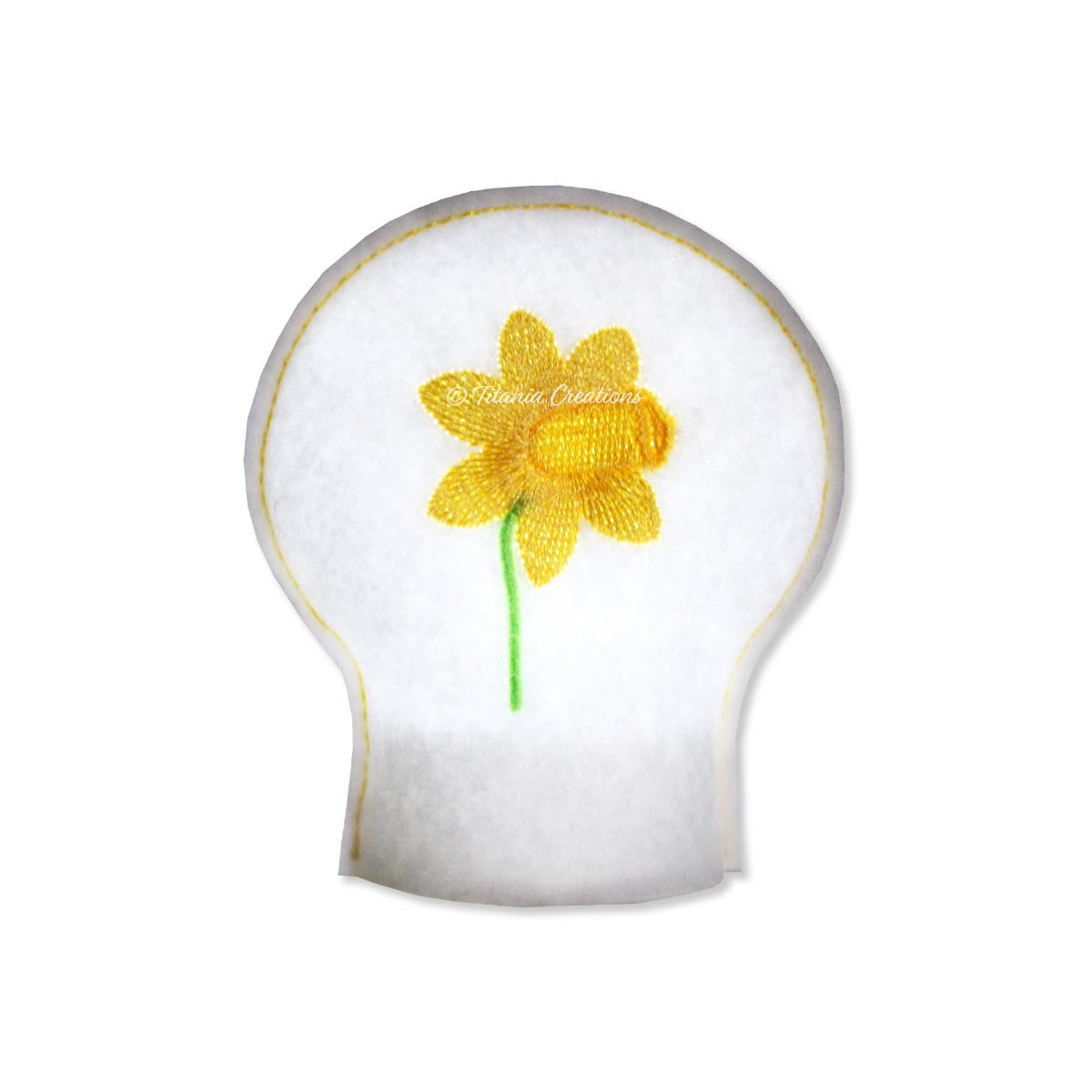 ITH Daffodil Flower for March Tea Light Cover 4x4