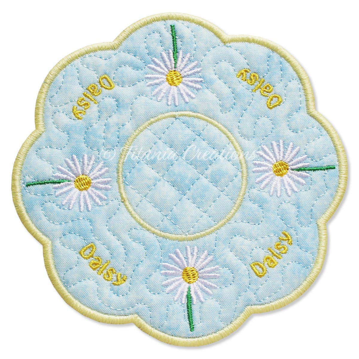 ITH Daisy Flower for April Candle Mat 5x5 6x6 7x7 8x8