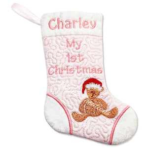 ITH My First Christmas Stocking 5x7 6x10 7x11