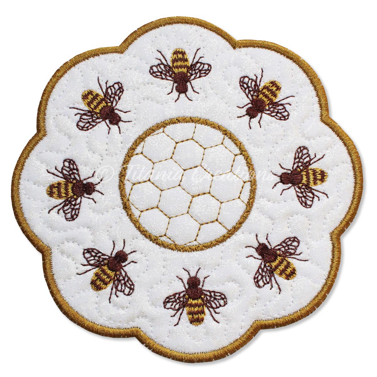 ITH Honey Bee Candle Mat 5x5 6x6 7x7 8x8