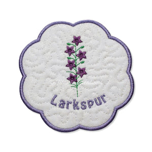 ITH Larkspur Flower for July Mat 4x4