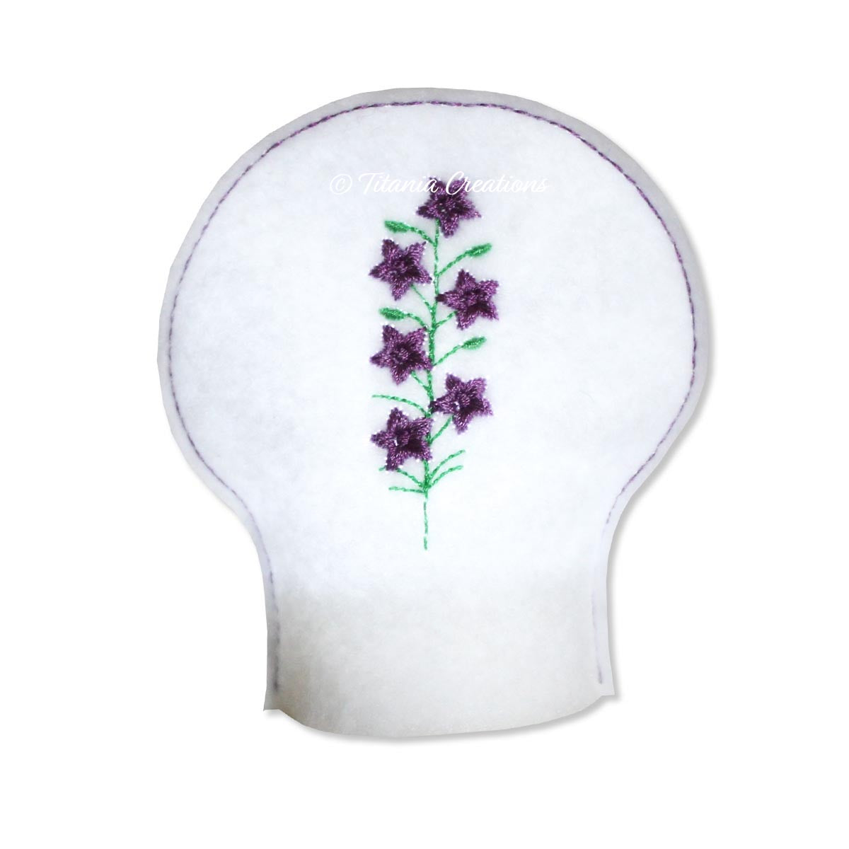 ITH Larkspur Flower for July Tea Light Cover 4x4
