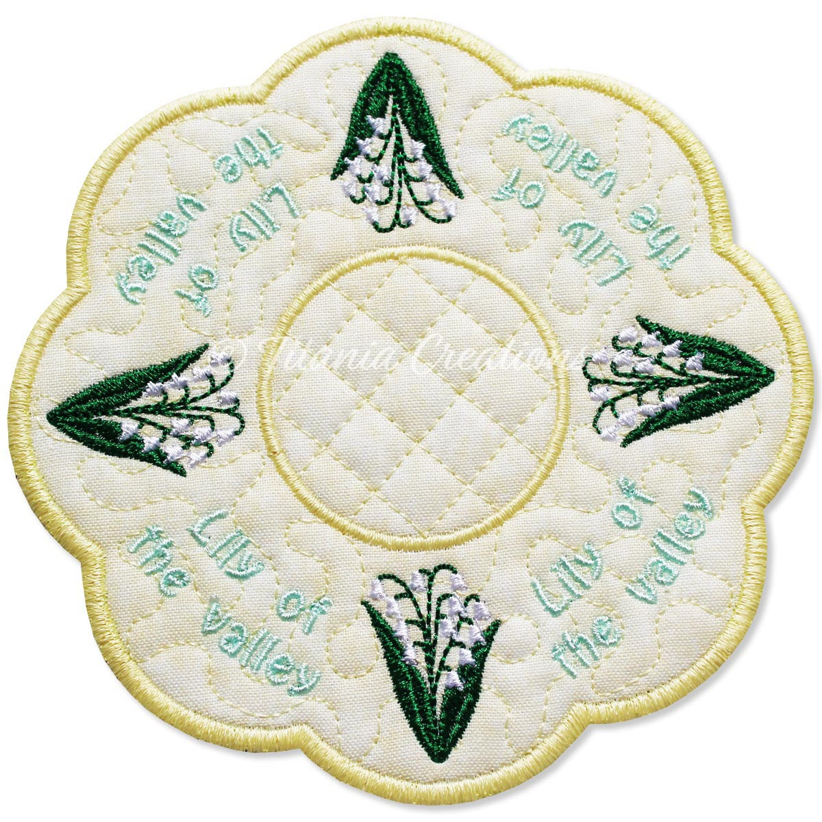 ITH Lily of The Valley Flower for May Candle Mat 5x5 6x6 7x7 8x8