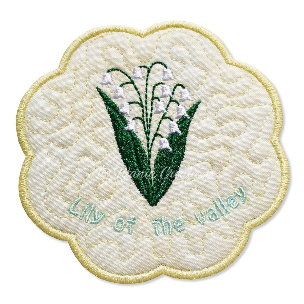 ITH Lily of The Valley Flower for May Mat 4x4