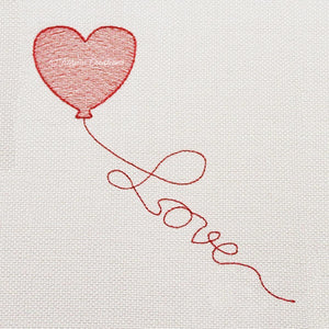 Love Heart Balloon 4x4 5x7