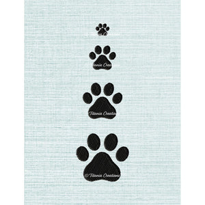 Miniature Paw Prints Set of Four 4x4