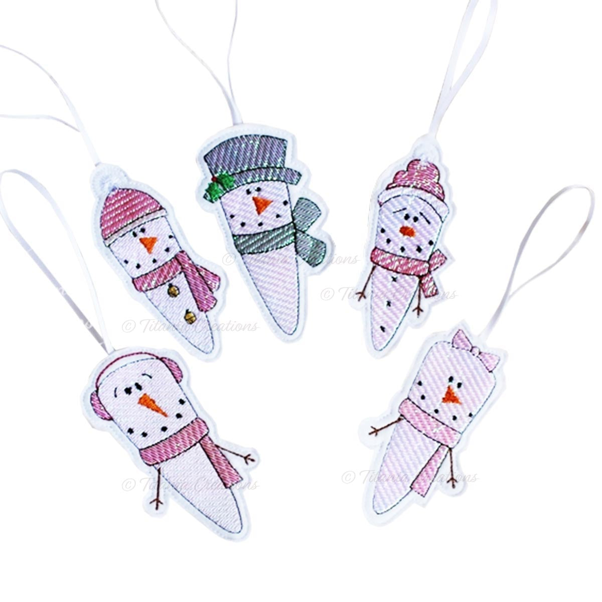 ITH Mylar Icicle Decorations set of 5 4x4